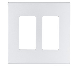 ClareVue Screwless Midsize Wallplates 2 gang (White)