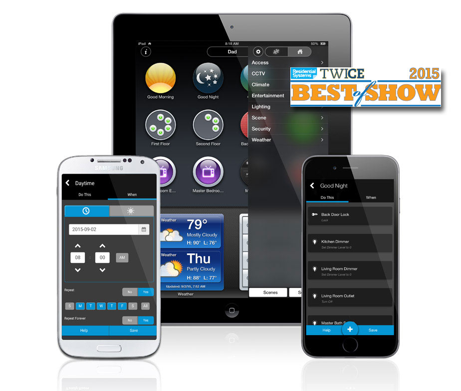 clare controls app clarehome premium residential systems twice best of show