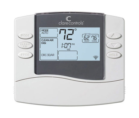 Clare Controls Push-Button WiFi Thermostat