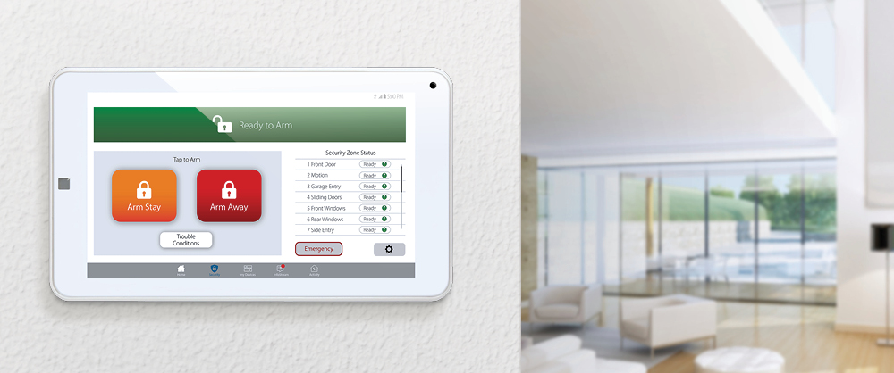 """Clare 7"""" Security Touchpanel Lifestyle Image"""